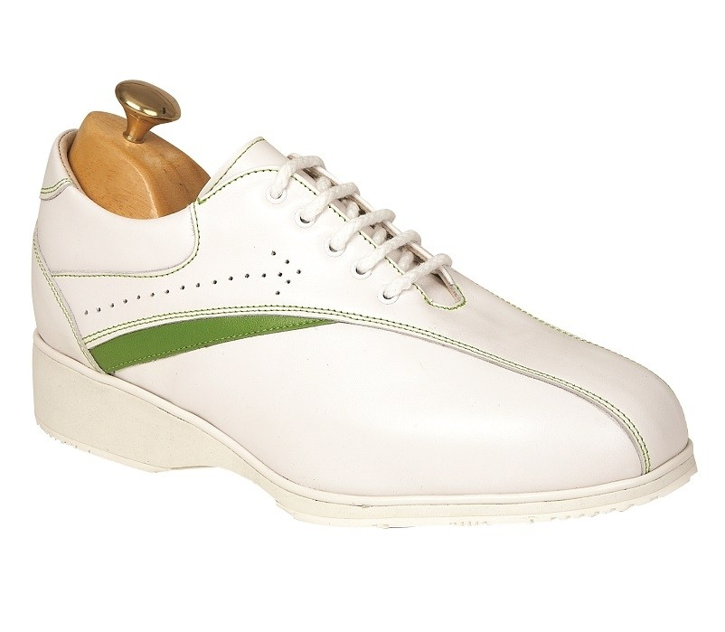 Atlanta White Leather with Lime
