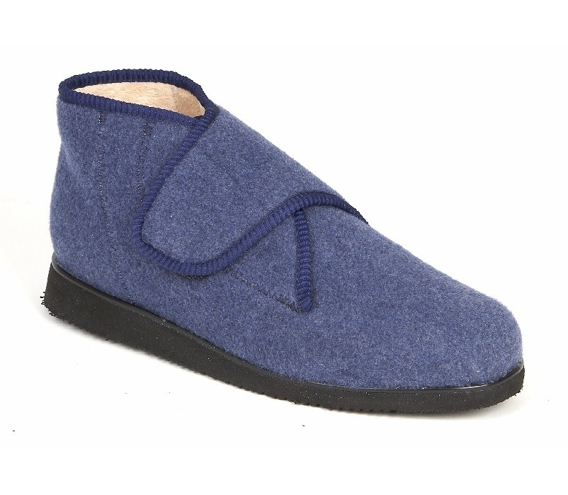 Slipper Boot - Navy