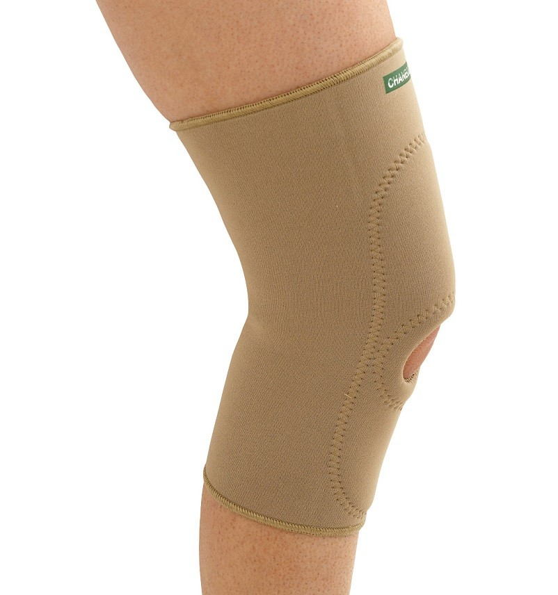 Padded Knee Sleeve in beige Neoprene