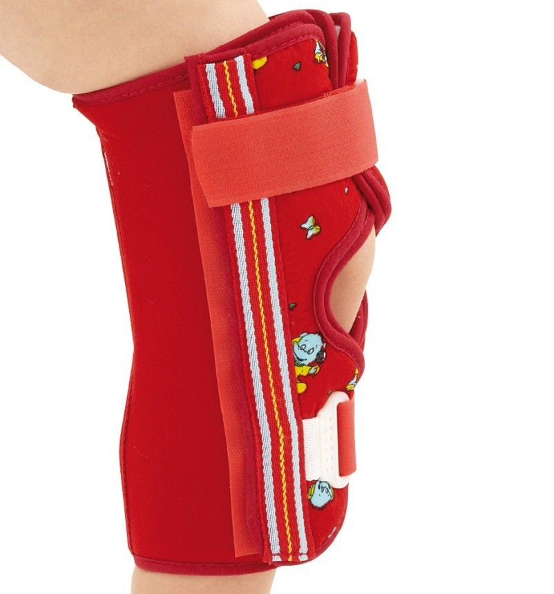 Paediatric 3-Panel Knee Immobiliser side view