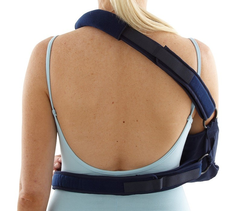 Shoulder Immobiliser with Body Strap back view