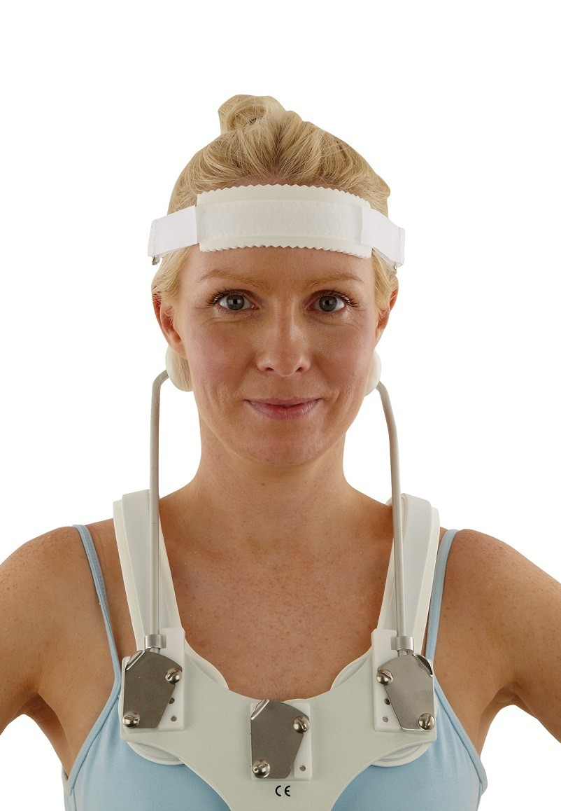 SOMI® Brace with Chin Support removed and Headband attached