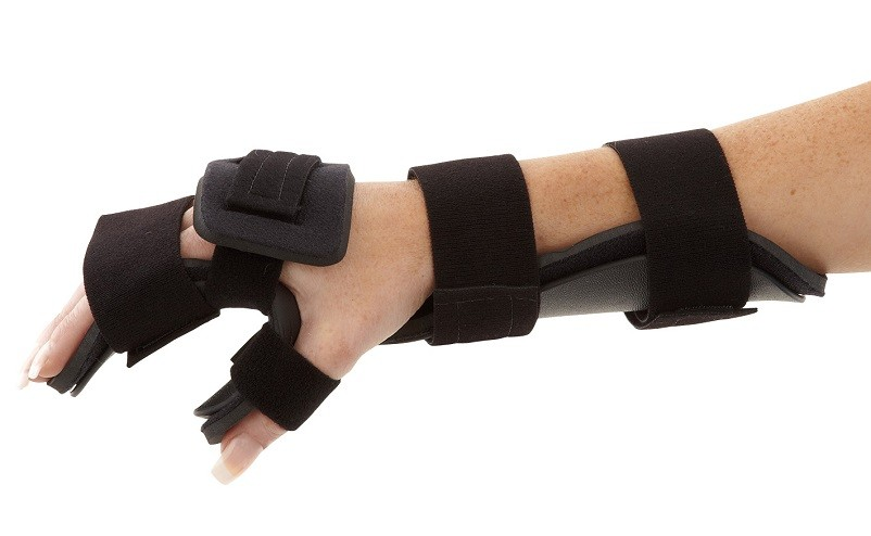 Resting Hand Burn Unit side view