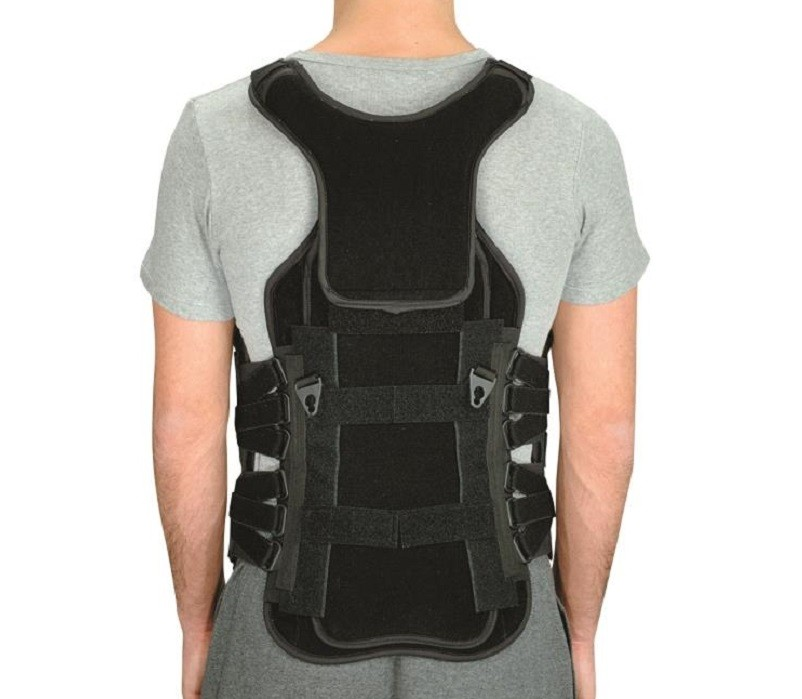 Ultralign TLSO with optional Over The Shoulder Sternal Extension back view