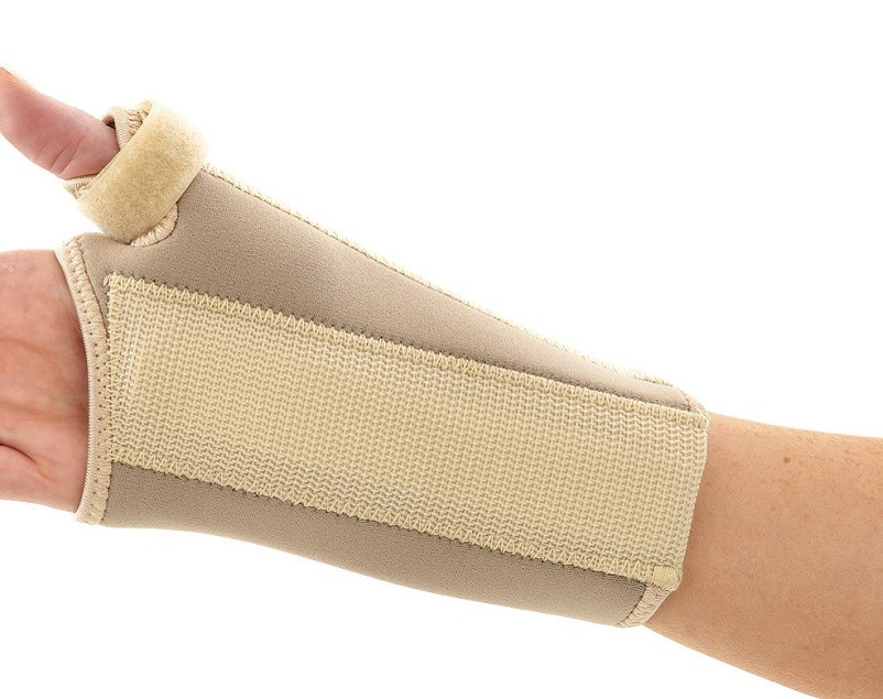 Neoprene Wrist - Thumb Brace back view