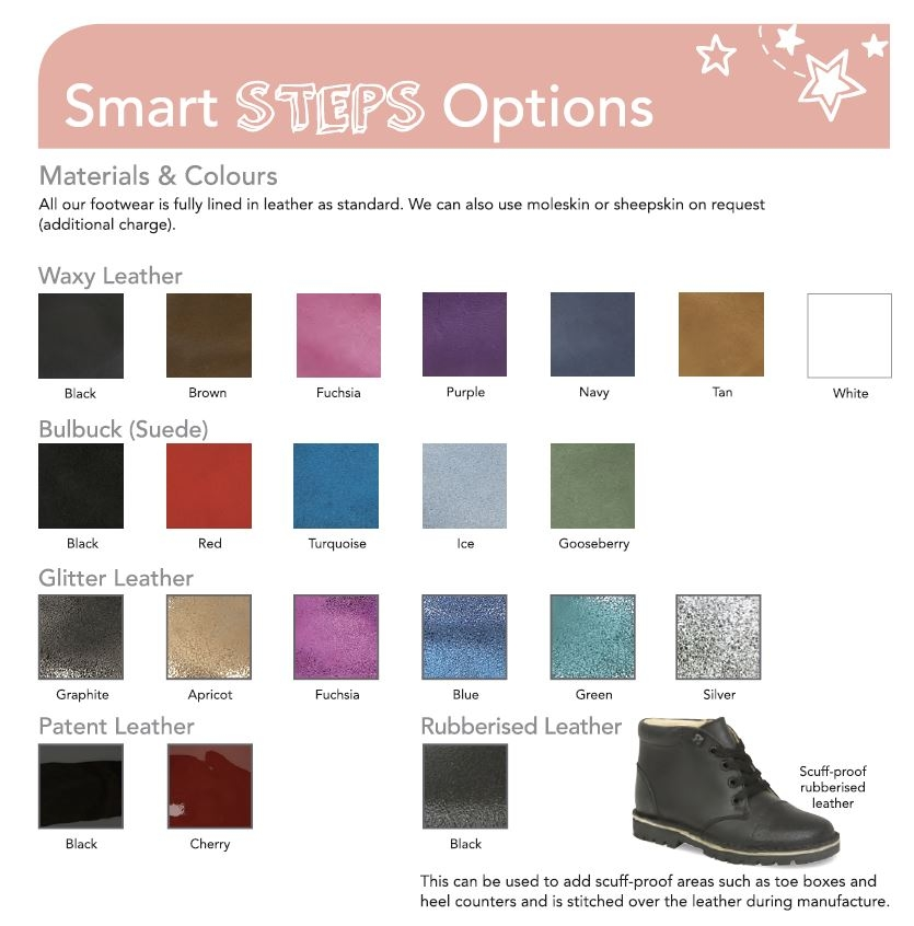 Smart Steps Colour Chart